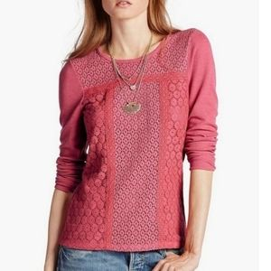Lucky Brand Lace Patched Thermal